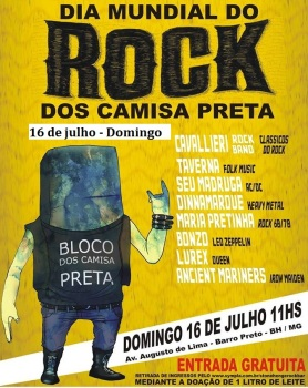 rock bloco camisa preta